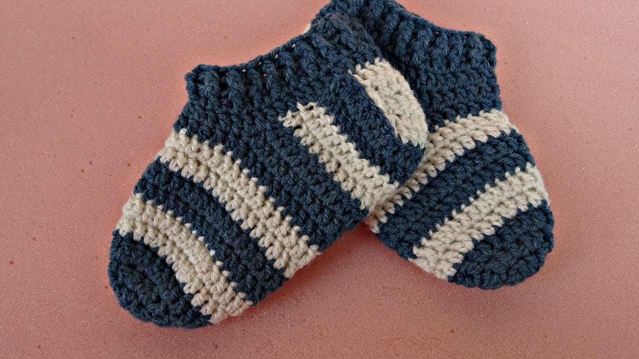 How To Crochet Stripy Baby Socks Diy Crafts Tutorial