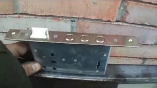 видео Врезной замок в калитку