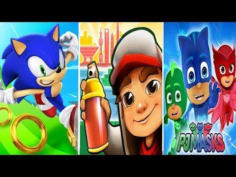 Sonic Dash vs Subway Surfers vs PJ Masks Moonlight Heroes