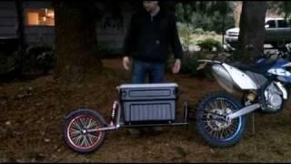 moto-mule dual sport adventure cargo trailer up close