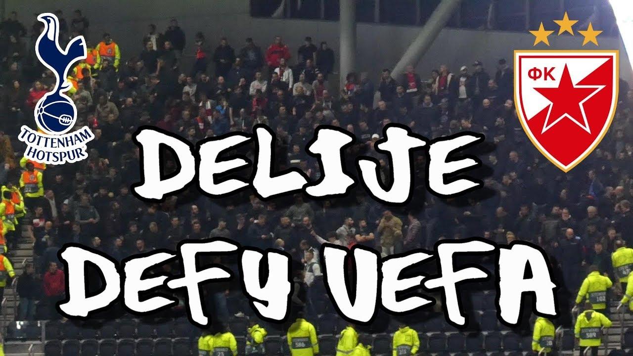 Tottenham Hotspur 5 Fk Crvena Zvezda Red Star Belgrade 0 Delije Defy Authorities 221019