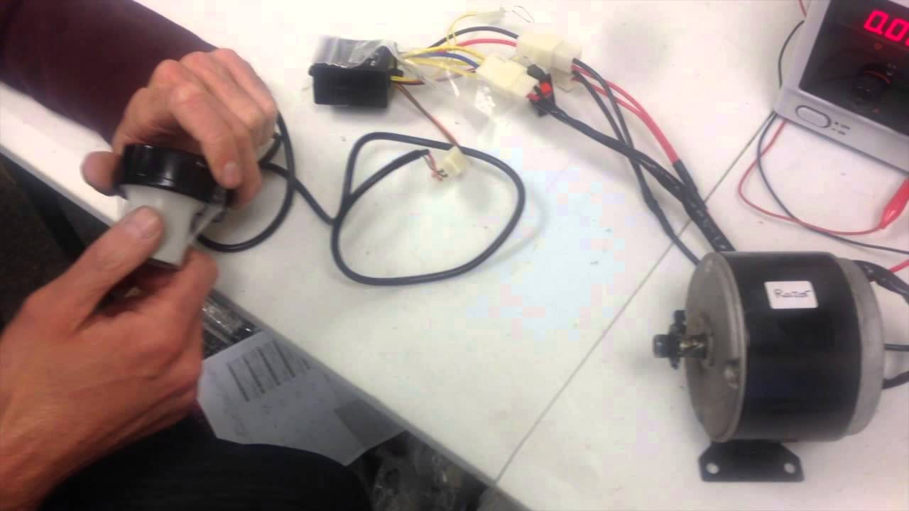 razor e100 tech - controller and throttle operation (ebay safe) - youtube