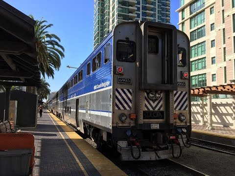 Amtrak California HD 60fps: Riding Pacific Surfliner Train 562 Los Angeles to San Diego (3/8/16)