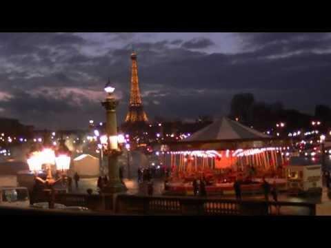 Jardin Des Tuileries Vue Sur Les Champs Elysees Noel 2012 Youtube