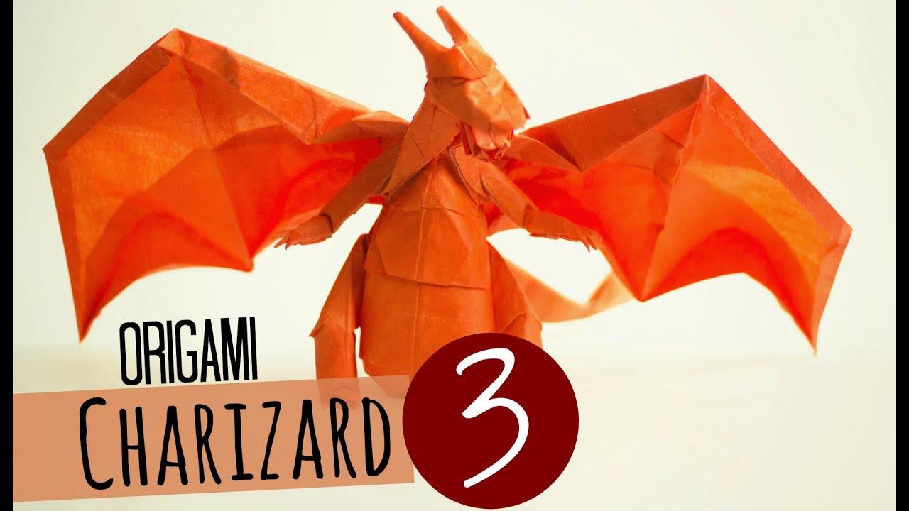 How To Make An Origami Charizard Tadashi Mori Part 3 Youtube Fearsome Ancient Dragon Designed By Satoshi Kamiya No Online Diagrams