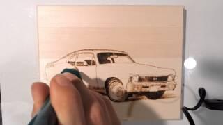 Chevy Nova Pyrography // Time Lapse //