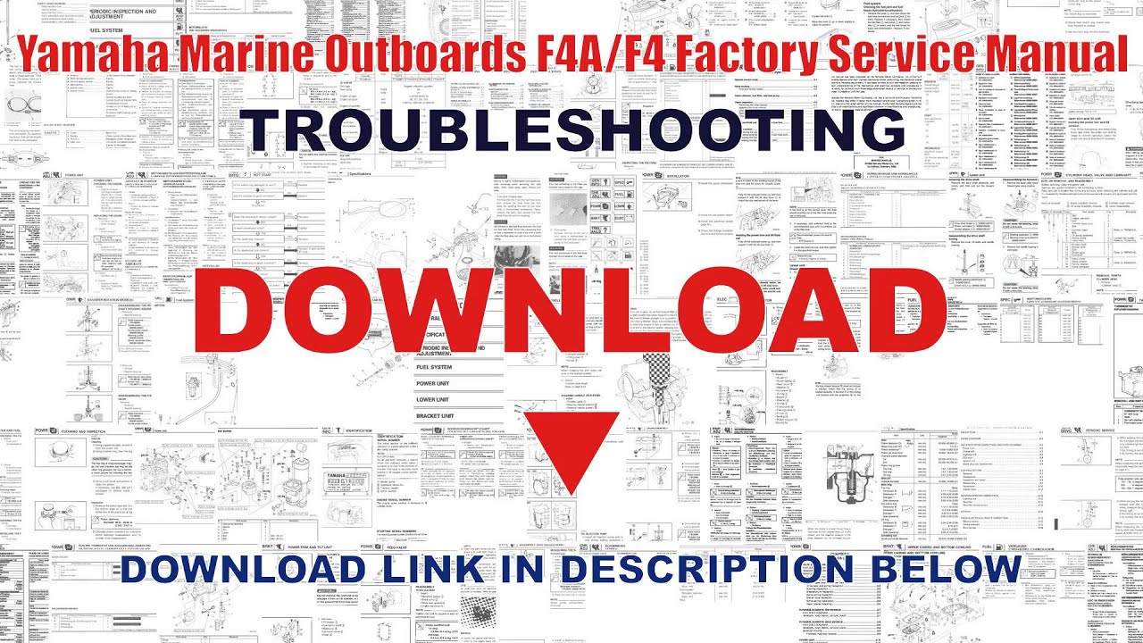 yamaha marine outboards f4a f4 factory service manual youtube rh youtube com yamaha outboard motors factory service manual f6 and f8 Yamaha Service Dealers