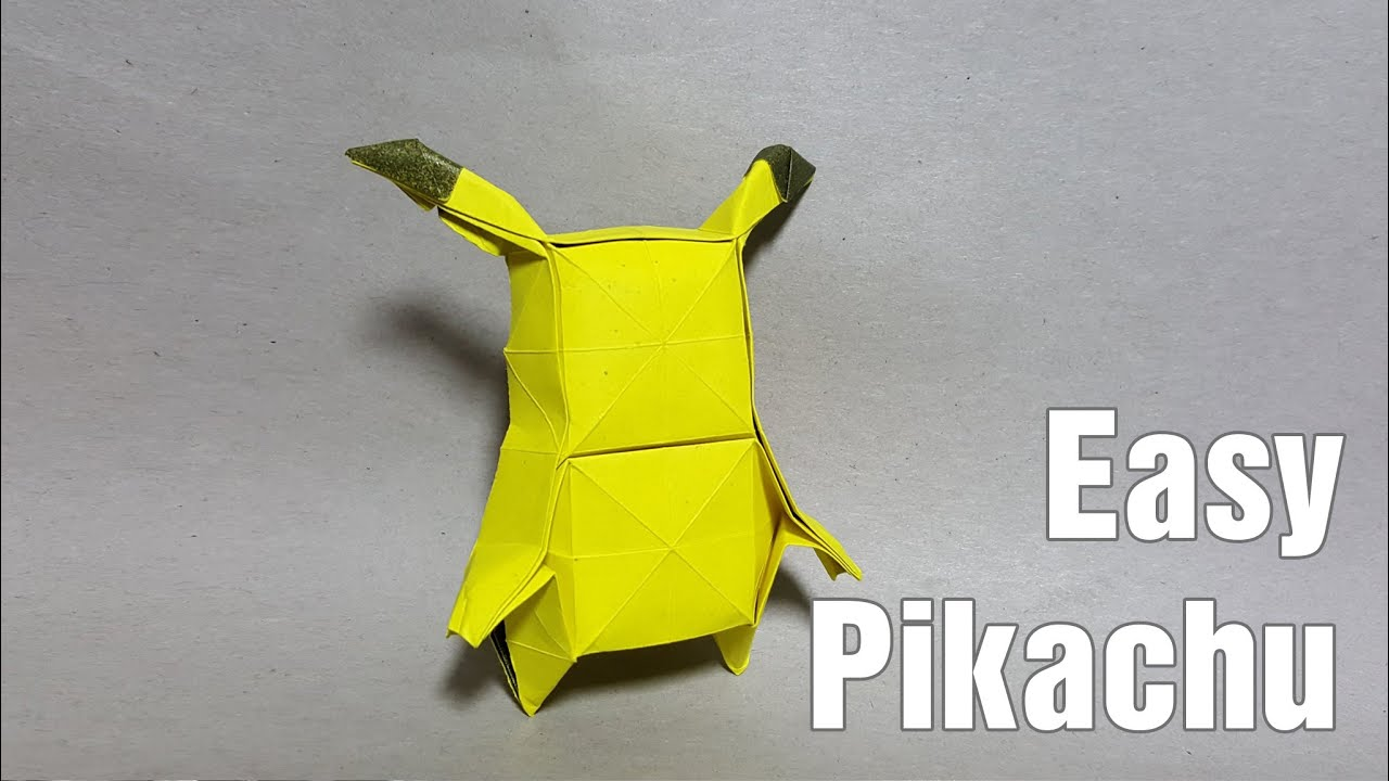 Origami Pikachu Tutorial ☆ Pokemon DIY ☆ Paper Kawaii GIF | Gfycat | 720x1280
