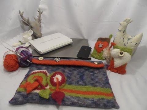 diy keka geschenk notebook laptoptasche tasche schultertasche selber stricken und filzen. Black Bedroom Furniture Sets. Home Design Ideas
