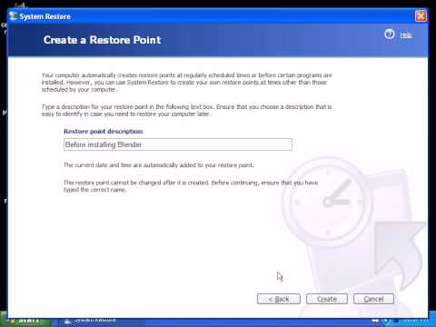 How To Access System Restore | Creating A Restore Point In Windows XP