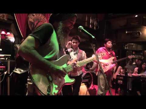 Ped's band with Chai Blues at the Saxophone Pub, Bangkok