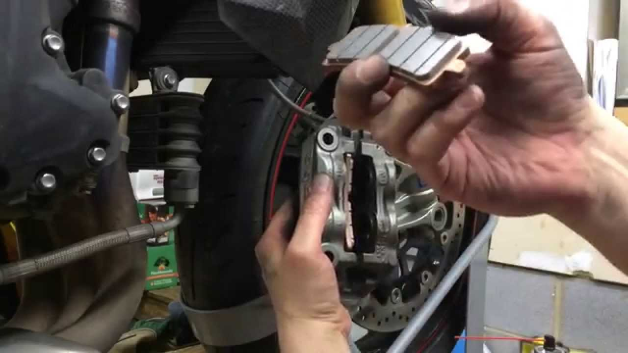 Front Brake Pad Change Diy Triumph Speed Triple R Brembo