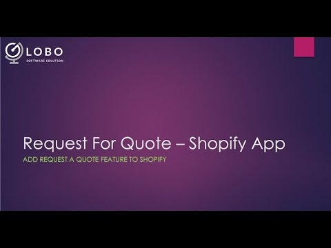 Request For Quote Shopify App