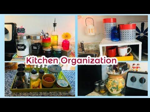 Budget Friendly Kitchen Organization I  Easy Kitchen Countertop Organization
