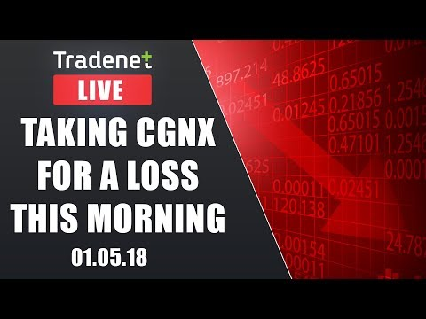 Day Trading Live - Taking CGNX for a loss this morning