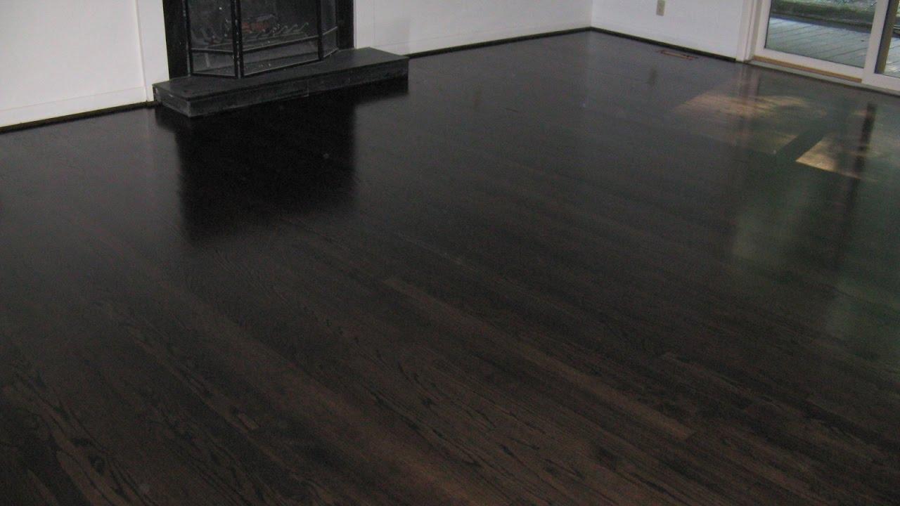 Staining Hardwood Floors Youtube
