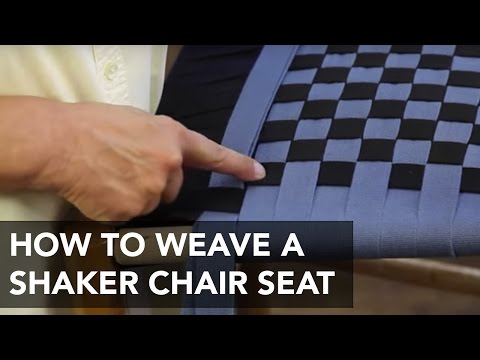 How to Weave a Seat for a Shaker Chair
