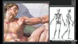 Анатомия и рисунок. Скелет в шедеврах