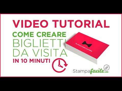 Come Creare Biglietti Da Visita Professionali In 10 Minuti - VIDEO TUTORIAL