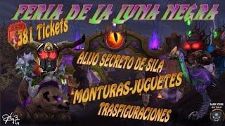 WoW Todos Vales de la FERIA DE LA LUNA NEGRA 381 tickets ,  Oso Bailarin, Alijo Secreto de Silas