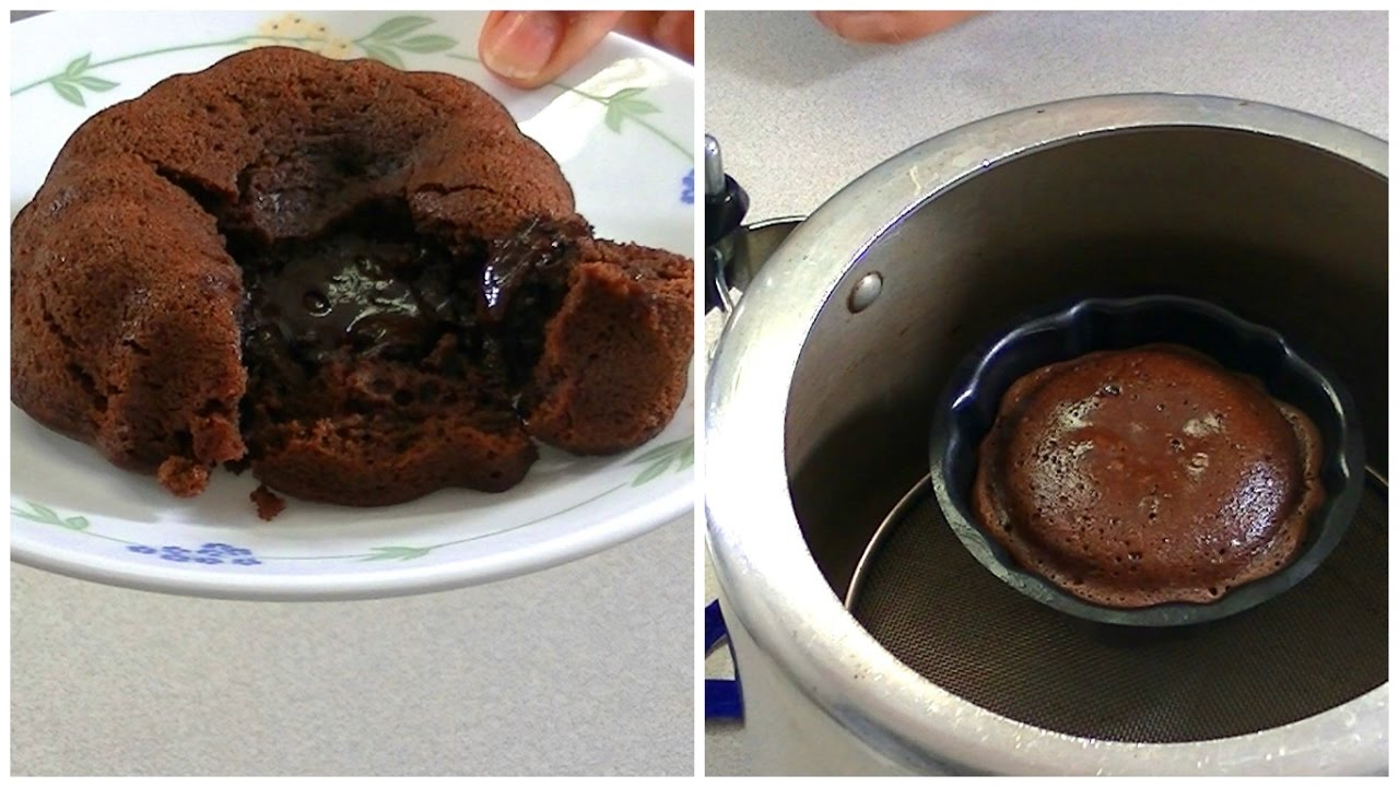 Choco lava cake on gas