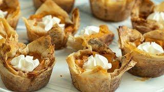 Thanksgiving Pumpkin & Phyllo Pies: Thanksgiving Menu #1