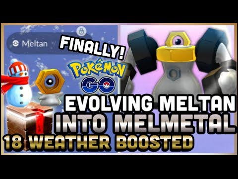 EVOLVING MELTAN INTO MELMETAL IN POKEMON GO | CATCHING 18 WB MELTAN | AMAZING SALE BOX thumbnail