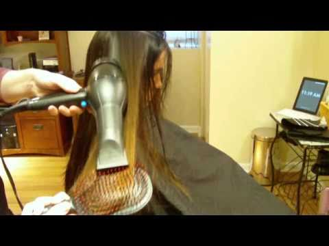 How to Blow Dry Your Long Layer Haircut Paddle Brush  YouTube