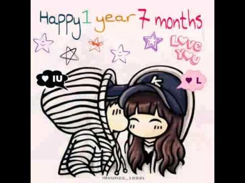 happy anniversary of 1 year 7 months myungu couple infinite l kim