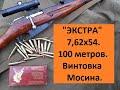 """Патроны 7,62х54 """"Экстра"""" НПЗ. 100 метров. Винтовка Мосина."""
