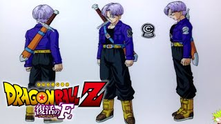 Dragon Ball Z Revival of F - Future Trunks Character Design F