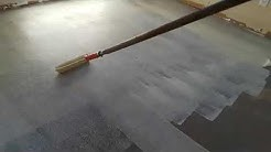 How to put glue and installation carpet tile