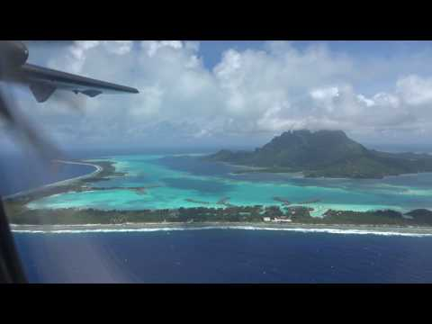 Air Tahiti ATR 72 Flight - Raiatea to Bora Bora Airport, French Polynesia