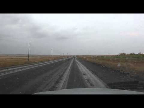 Between Novotroitsk and Magnitogorsk by car