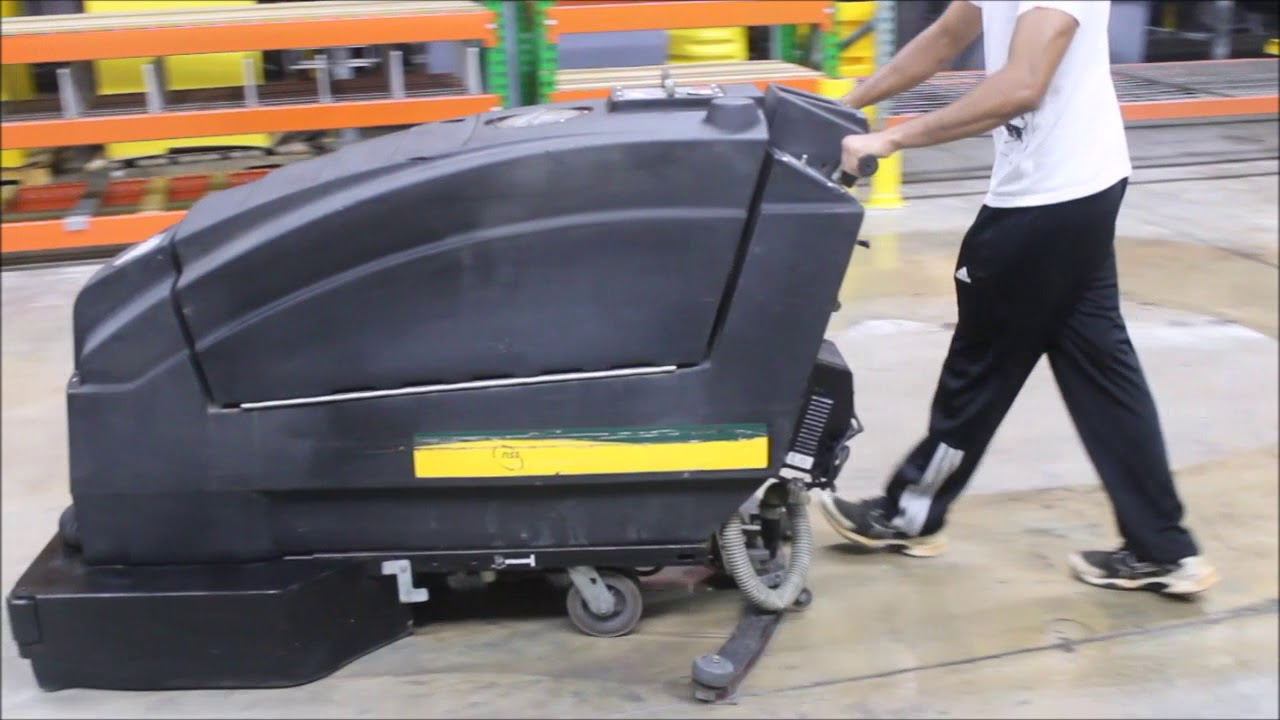 2012 Nss Wrangler 3330 Walk Behind Floor Scrubber Youtube