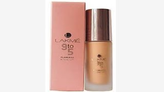 LAKME 9 TO 5 FLAWLESS MAKEUP FOUNDATION HONEST REVIEW