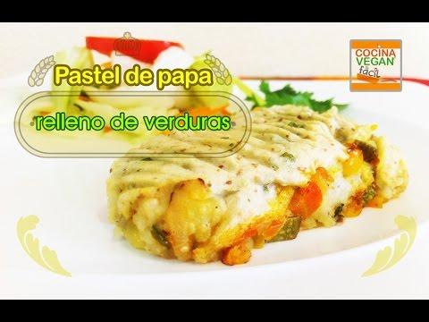 Pastel de papa relleno con verduras