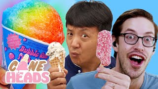 Mike Chen and Keith From the Try Guys Taste Test Ice Cream Truck Classics | Coneheads