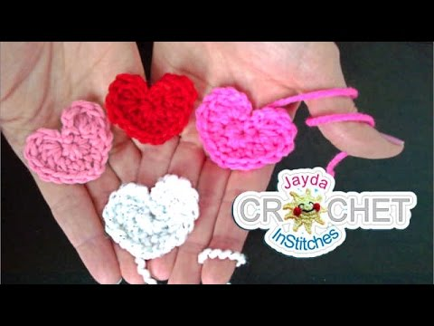 Simple Crochet Heart Pattern - Beginners Project - YouTube