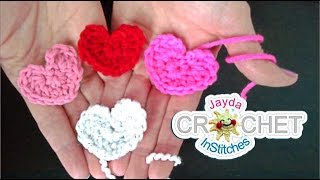 Simple Crochet Heart Pattern - Beginners Project