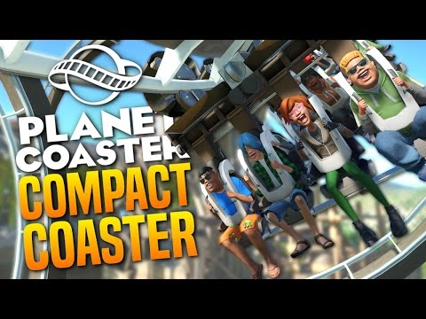 COMPACT COASTER - Giant Pirate Ship Park - Planet Coaster Gameplay #7