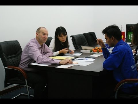Interview between Zamil Industrial's representative and Vietnam Manpower's candidates