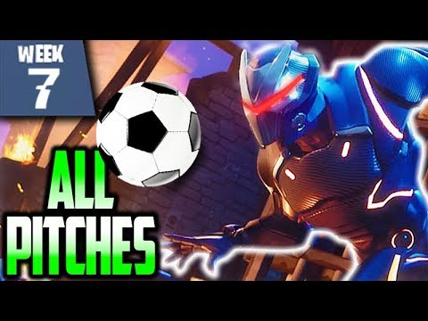 Fortnite WEEK 7 - 3 Football Pitches For