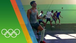 Training for Rio with the Cuban Fencing team