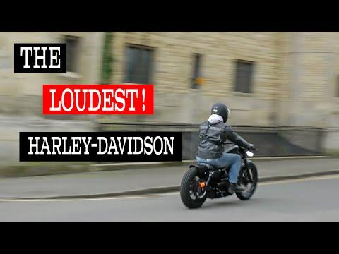 LOUD! Riding Rough Crafts Harley Davidson custom iron around Uppingham