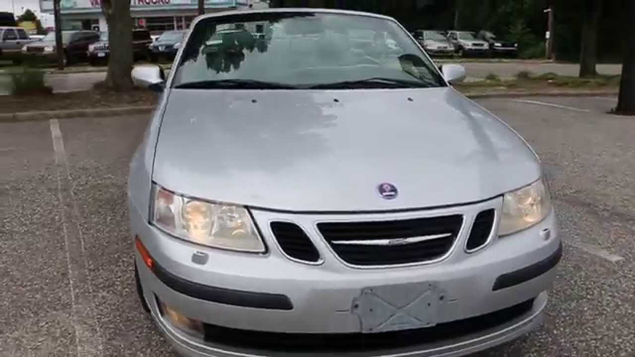 2004 Saab 9 3 Arc Turbo Convertible For Leather Heated Seats Alloys Loaded W Options You