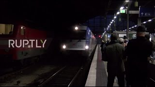 Germany: New high-speed 'Swift' passenger train arrives in Berlin after journey from Moscow