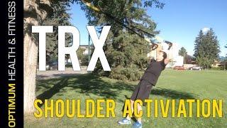 trx shoulder activation warm up