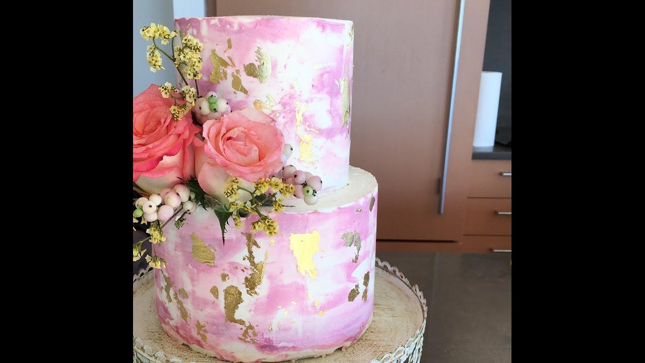 Watercolor Buttercream Cake Tutorial Youtube