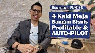 #3 Kaki Meja Bangun Bisnis Profitable & AUTO-PILOT | Business is FUN! Strategi Yohanes G. Pauly